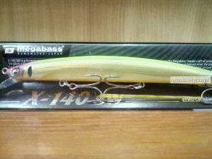 Воблер Megabass X-140 SW 140 мм / 19,5гр / Заглубление: 0,2 - 0,5 м / цвет: SG Teaser (JM)