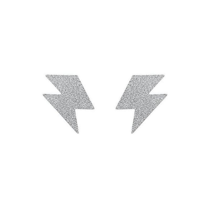 Наклейки на грудь (пэстис) Bijoux Silver Flash