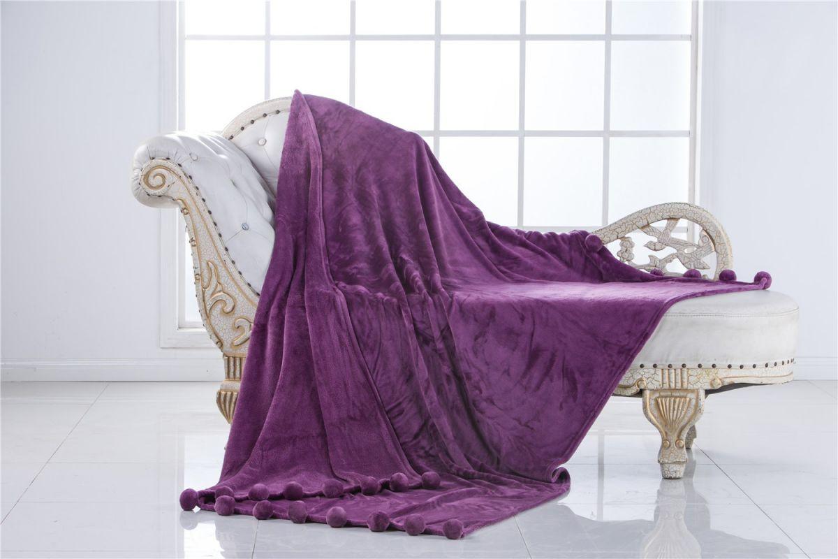 Бубон (фиолет) Плед.150х200