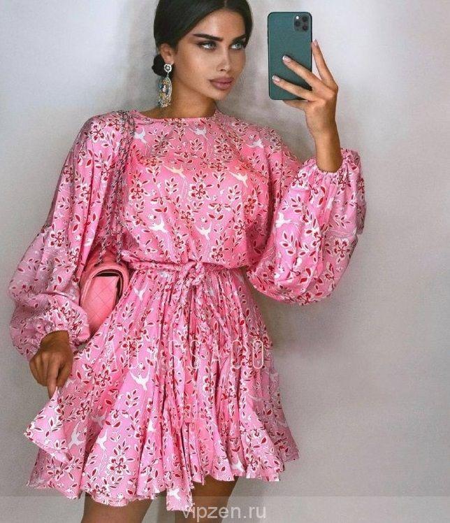 Коллекционное платье ZIMMERM:N в шикарной расцветке, ремень в комплекте