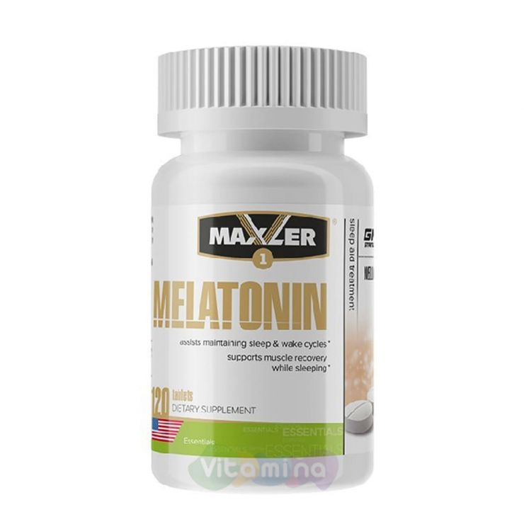 Maxler Мелатонин Melatonin 3мг, 120 таб.