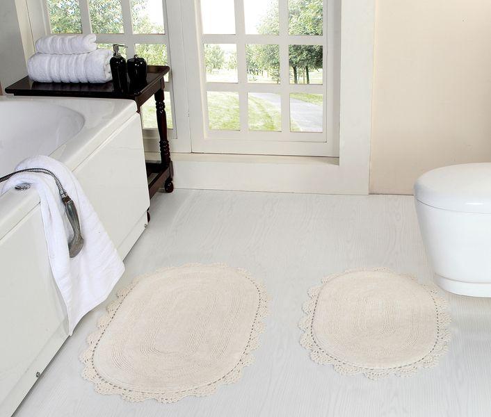 Коврик для ванной Дамиана (молоко) Букле Кружево 50х80(1), 45х60(1)