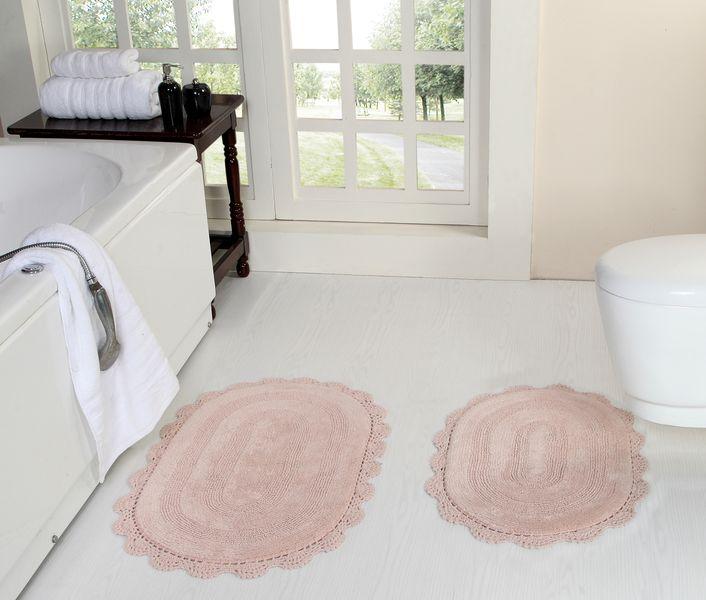 Коврик для ванной Дамиана (пудра) Букле Кружево 50х80