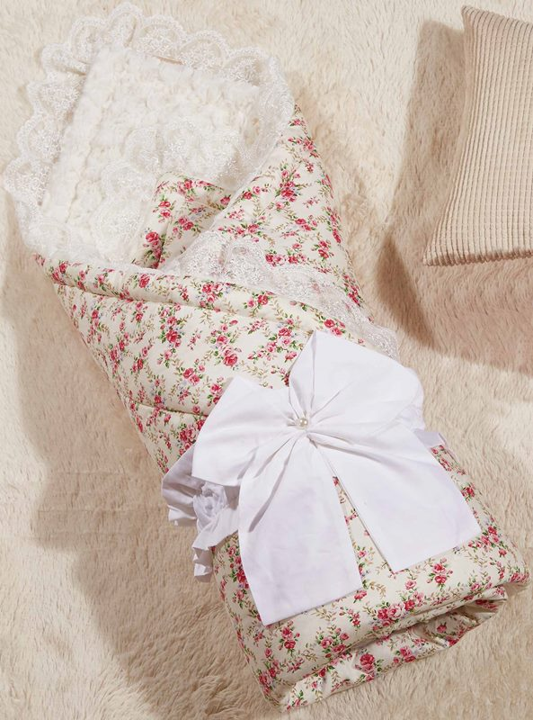 Одеяло-конверт 1.0 Бамбини Кружево (розовый) 100х100