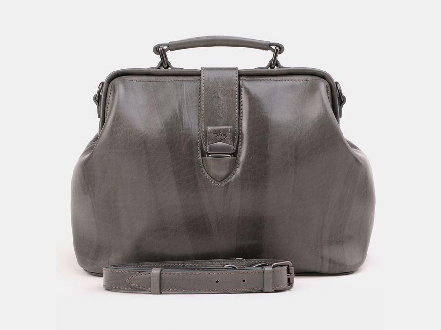 "Женская кожаная сумка Alexander-TS ""W0023 Gray"""