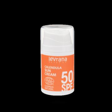 Леврана - Солнцезащитный крем для лица и тела Календула, SPF50,  50мл