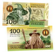 100 dollars (долларов) - Гендальф. Властелин колец. Новая Зеландия (Gandalf. New Zeland). 2021 UNC
