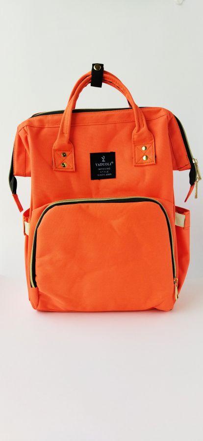 Рюкзак для мам с USB портом оранжевый
