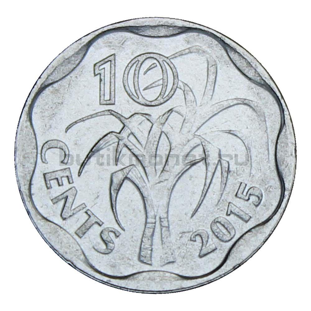 10 центов 2015 Свазиленд
