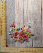 пуговицы ЦВЕТНОЙ МИКС диаметр 6 мм на два отверстия материал пластик упаковка 10 шт