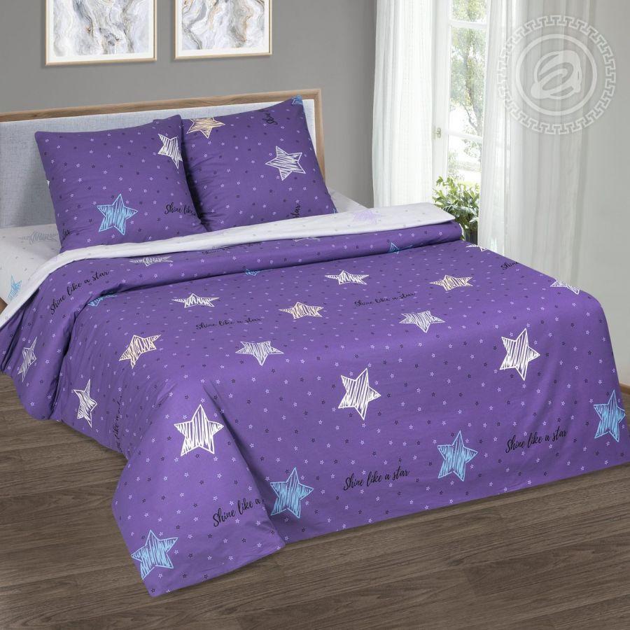 «Небесная фантазия» (DE LUXE) постельное белье Поплин Евро