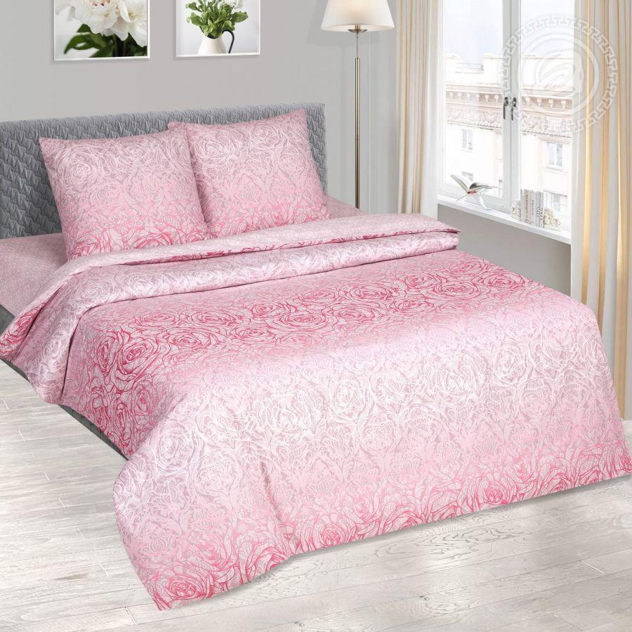 «Соблазн» (DE LUXE) постельное белье Поплин 2-х спальный с евро
