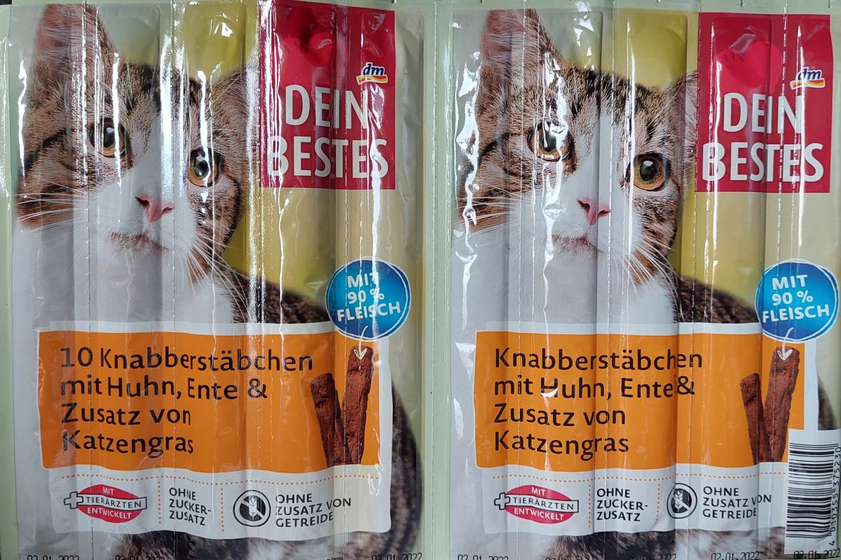 Палочки для кошек Dein Bestes (курица, утка) 10шт