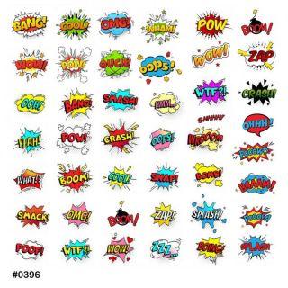 Слайдер-дизайн для ногтей № 0396