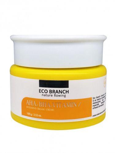 Eco Branch увлажняющий крем с кислотами витаминами AHA BHA Vitamin Intensive Cream 100мл