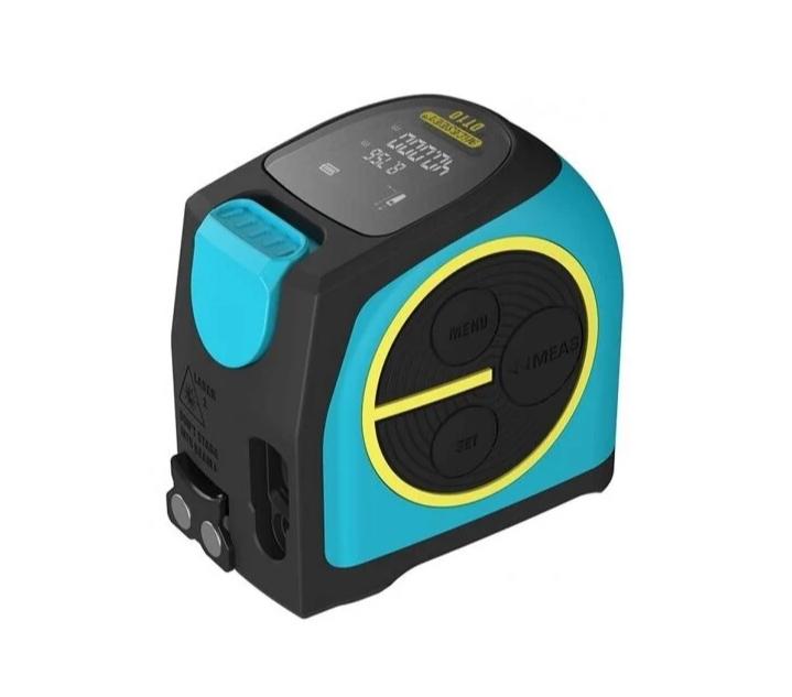 Лазерный дальномер Xiaomi Mileseey Laser Ranging Tape Measure (DT10) 40 м голубой/черный