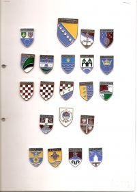 Набор значков Босния и Герцоговина (20 знаков Провинций+ Герб страны)