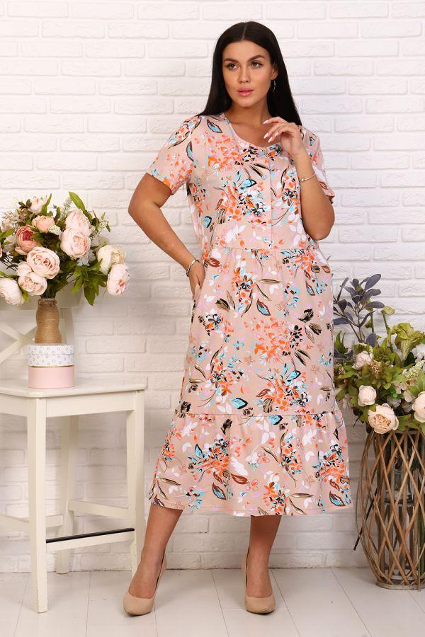 Платье 26046 [бежевый]