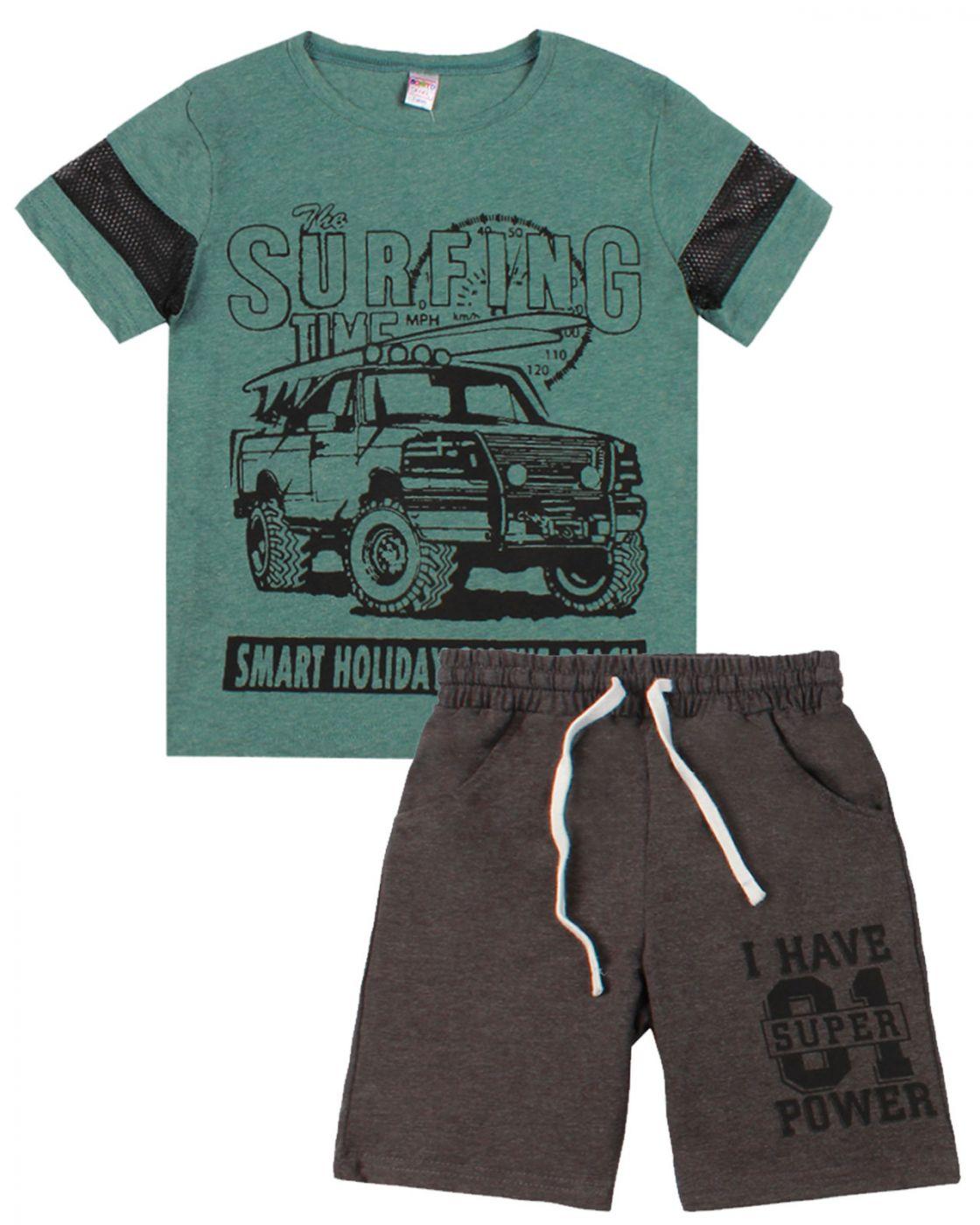 "Комплект для мальчика ""Urban style"" зеленый"