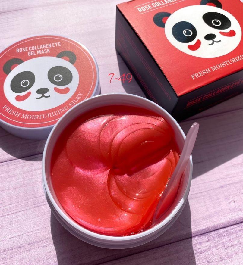 Гидрогелевые патчи с коллагеном и розой Rose Collagen Eye Gel Mask