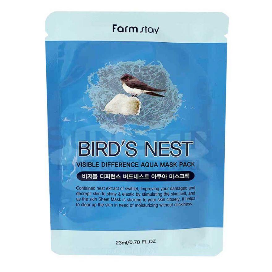 Маска с экстрактом ласточкиного гнезда Farmstay Bird's Nest