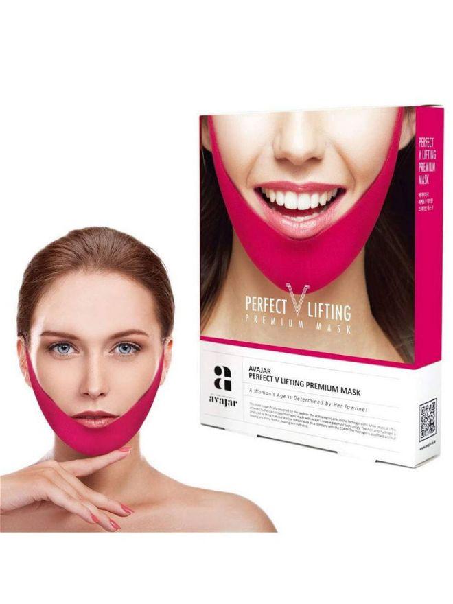 Лифтинговая маска для подбородка PERFECT V LIFTING PREMIUM MASK (розовая) (141299)
