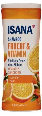 Шампунь Isana (экстракт апельсина и облепихи) 300мл