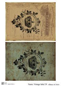 Vintage label 39