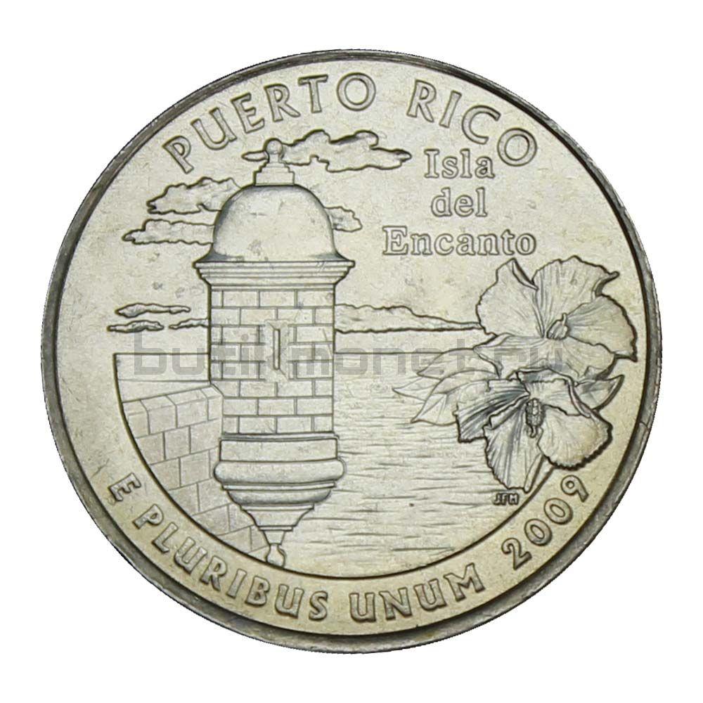 25 центов 2009 США Пуэрто-Рико P (Штаты и территории США)