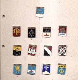 Набор значков Финляндия  (13 знаков Провинций)