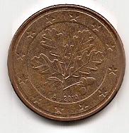 5 евроцентов Германия 2002 А регулярная из обращения