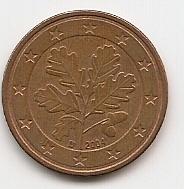 5 евроцентов Германия 2004 D регулярная из обращения
