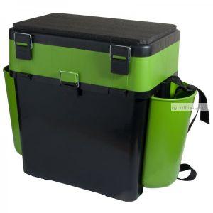 Ящик зимний рыболовный Helios FishBox, 19л, зеленый