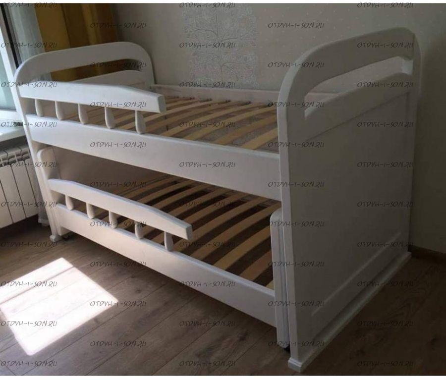 Кровать двухъярусная Мурзилка выкатная №В