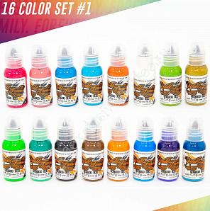 World Famous Ink 16 Color Ink Set 1 oz