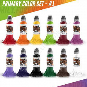 World Famous Ink Primary Set #1 (12 colors) 1 oz
