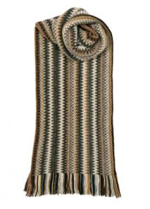 модный вязаный шотландский  шарф  Гавана Зиг-Заг HAVANA FAITH WOOL/ANGORA KNITTED SCARF, плотность 7