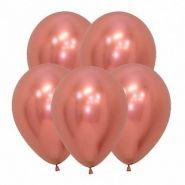 """Рефлекс Розовое золото, (Зеркальные шары), 5""""/12,5 см,  50 шт, Sempertex"""