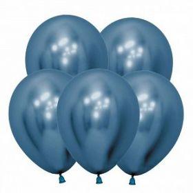 """Рефлекс Синий, (Зеркальные шары), 5""""/12,5 см,  50 шт, Sempertex"""
