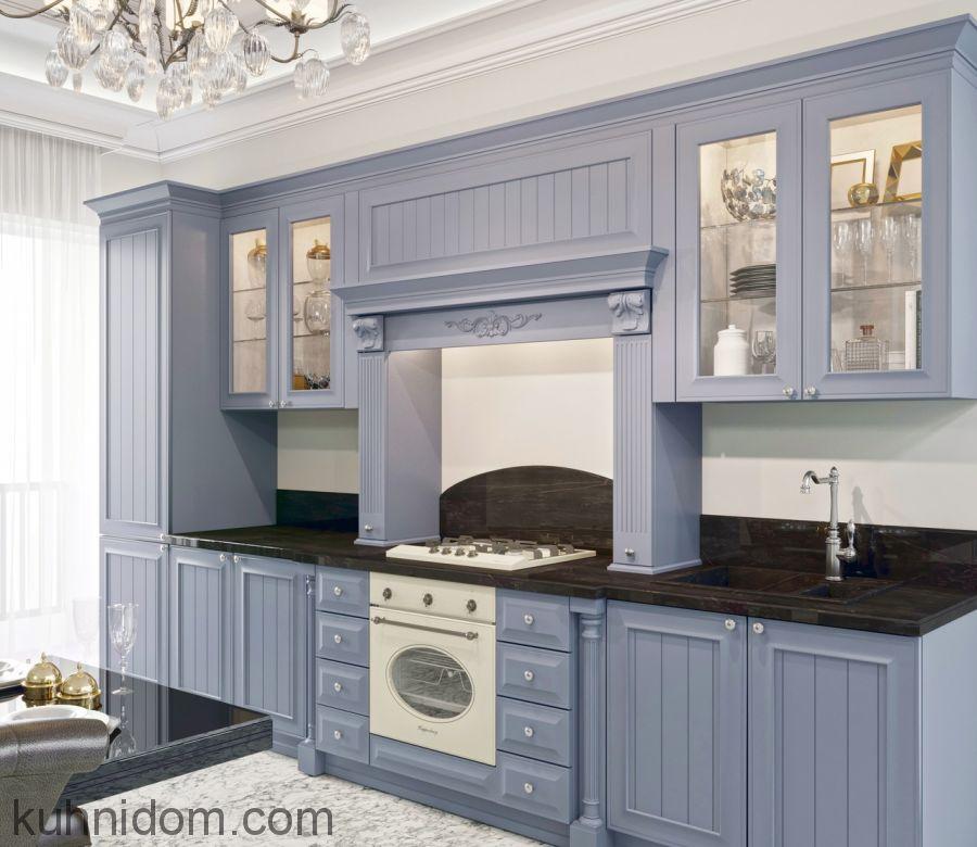 Кухня Blackberry голубая