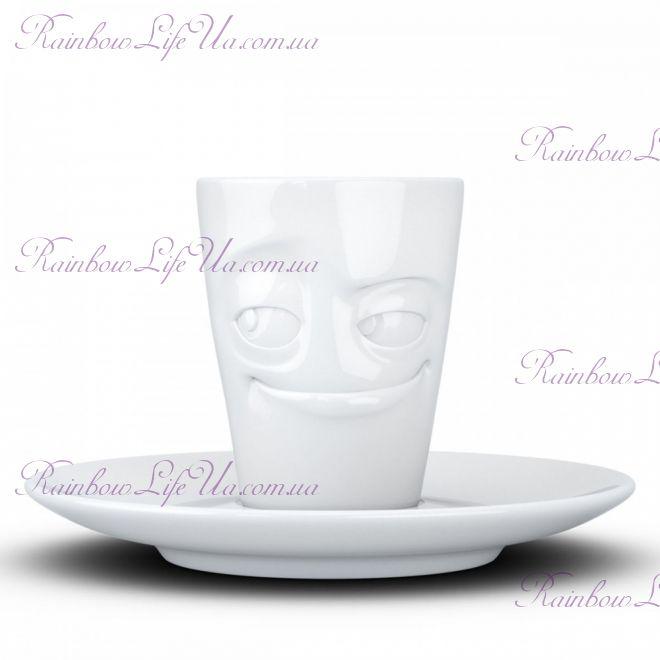 """Чашка с ручкой Espresso Tassen """"Проказник"""" 80 мл"""