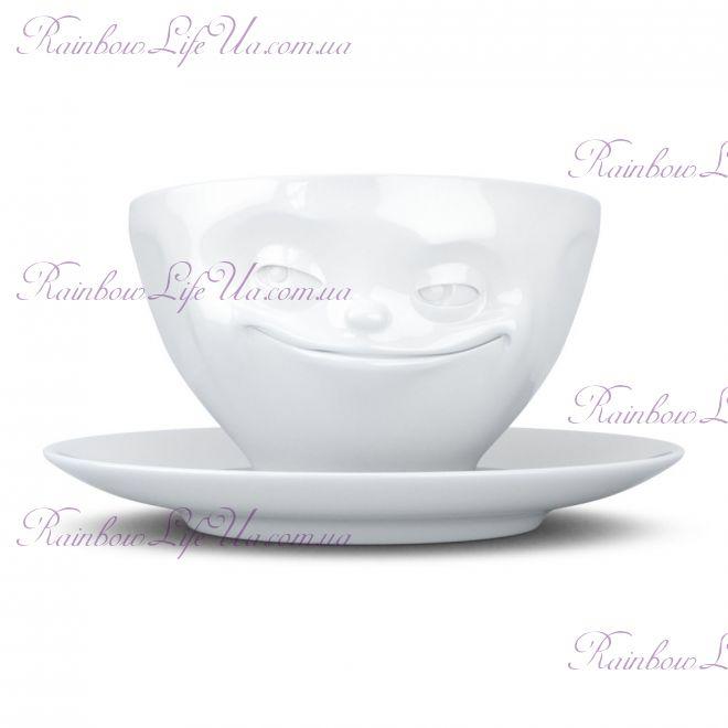 "Чашка с блюдцем для кофе 200 мл Tassen ""Хитрец"""