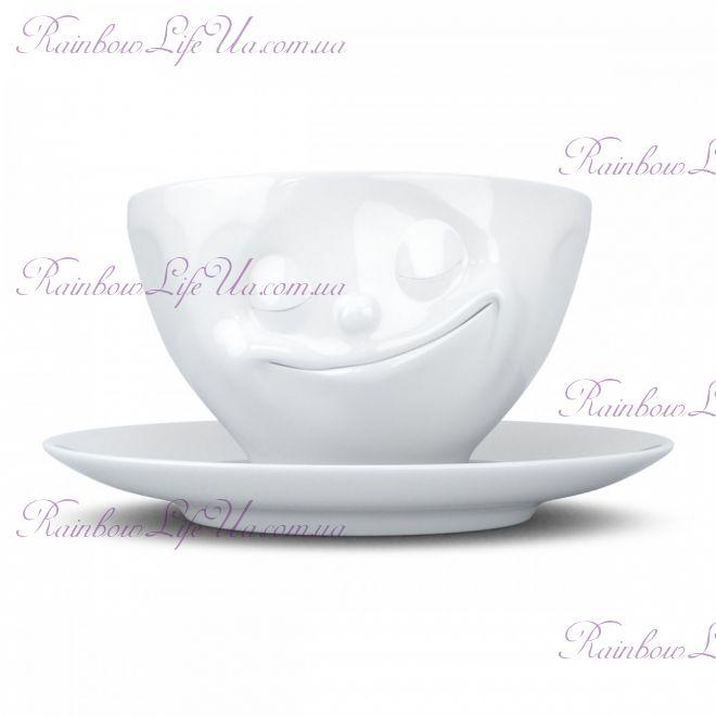 """Чашка с блюдцем для кофе 200 мл Tassen """"Счастье"""""""