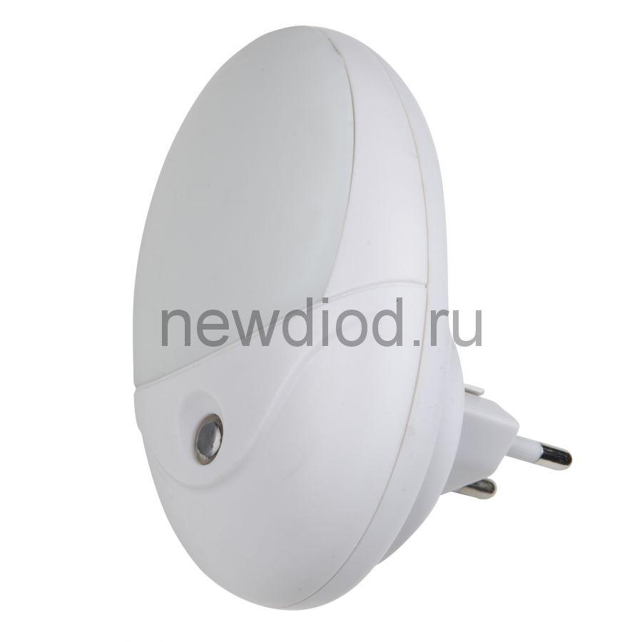Светильник-ночник Овал/White/Sensor DTL-317 с фотосенсором (день-ночь) белый ТМ Uniel