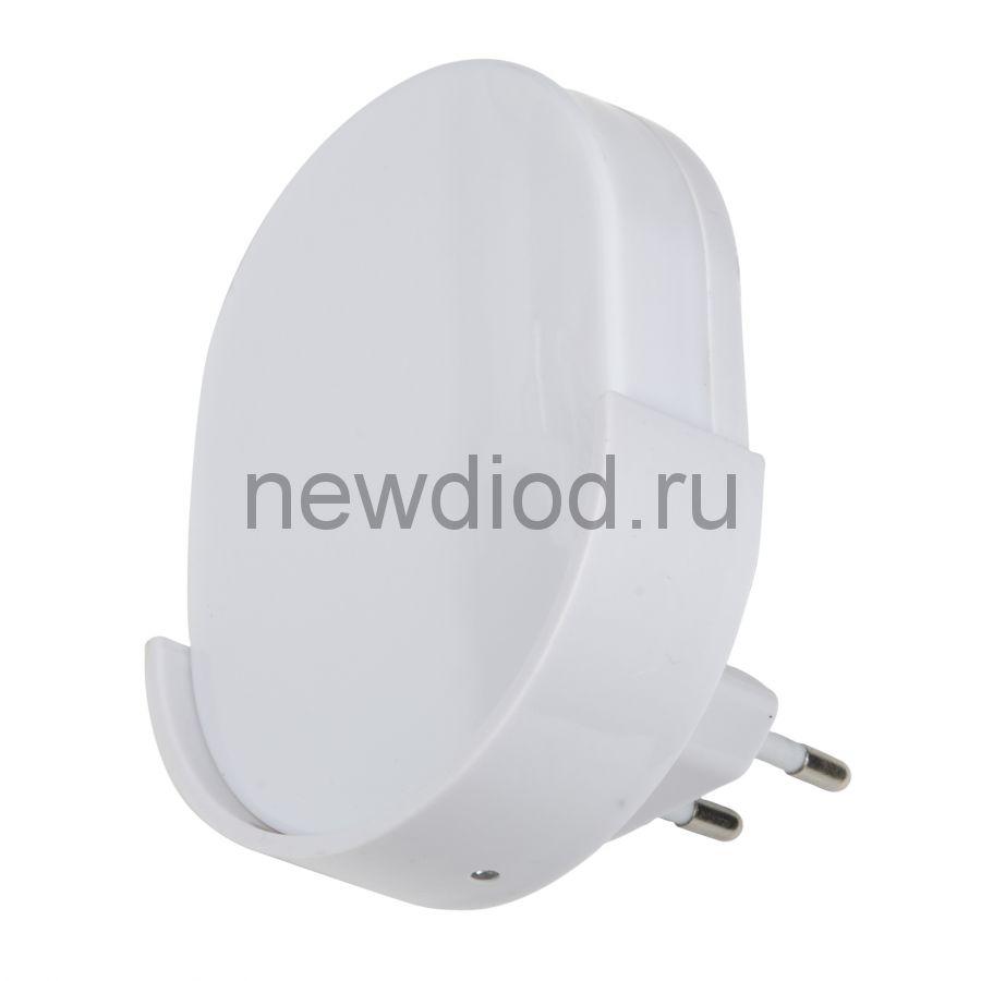 Светильник-ночник Овал/White/Sensor DTL-316 с фотосенсором (день-ночь) белый ТМ Uniel