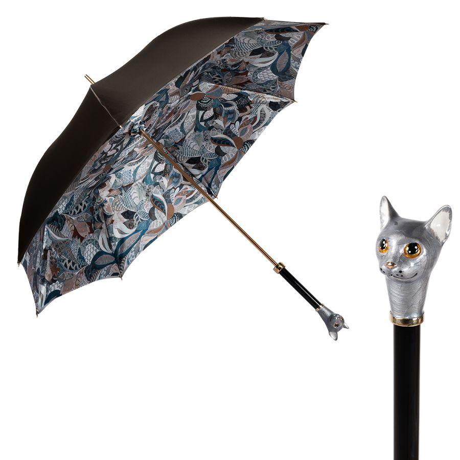 Зонт-трость Pasotti Becolore Biege Petalo Cat Lux