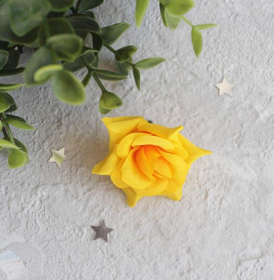 """Цветок """"Розочка"""" 4 см., темно-желтая"""