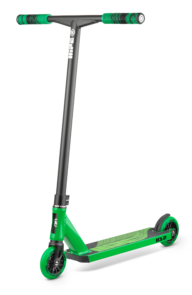 Самокат HIPE H12 black/green 2021