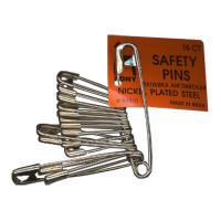 Булавки английские PONY стальные ассорти разных размеров 16 штук (84310)