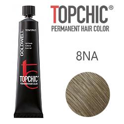 Goldwell Topchic 8NA - Стойкая краска для волос - Пепельный светло-русый натуральный 60 мл.
